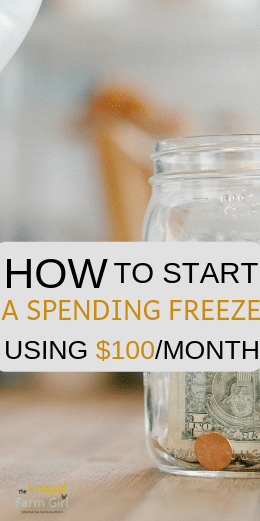 how to start a spending freeze to save money instantly
