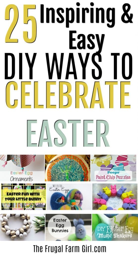 DIY Easter decorations that are quick and easy to do with or without the kids. Choose from 25 different ideas to help you celebrate Easter this year. 