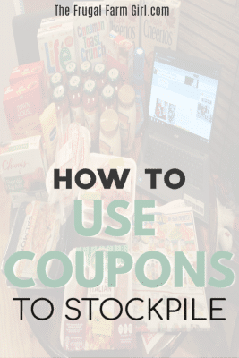how to use coupons to stockpile