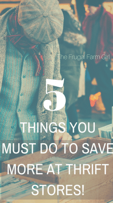 how to save more at thrift stores