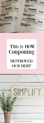 couponing when you have little income to pay off debt