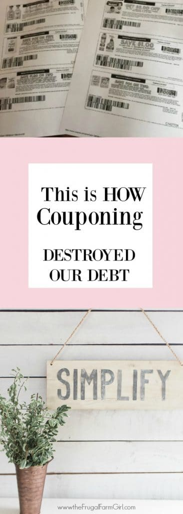 I was laid off while on maternity leave with our first child. I felt panicked about how to pay our bills with only one income and a new baby. I mastered couponing and these other life skills that allowed us to become debt free and so much more.