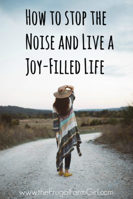 how to stop the noise and live a joy-filled life