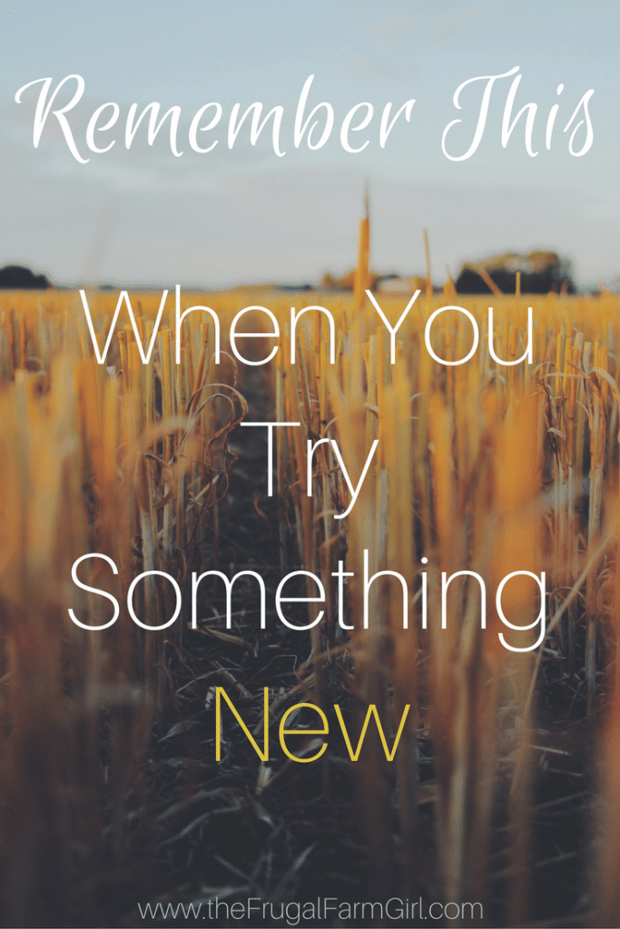 Remember This When You Try Something New