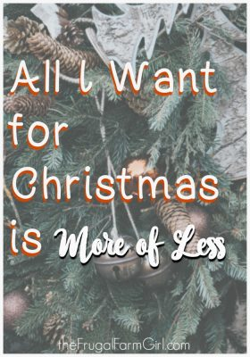 Christmas more of less