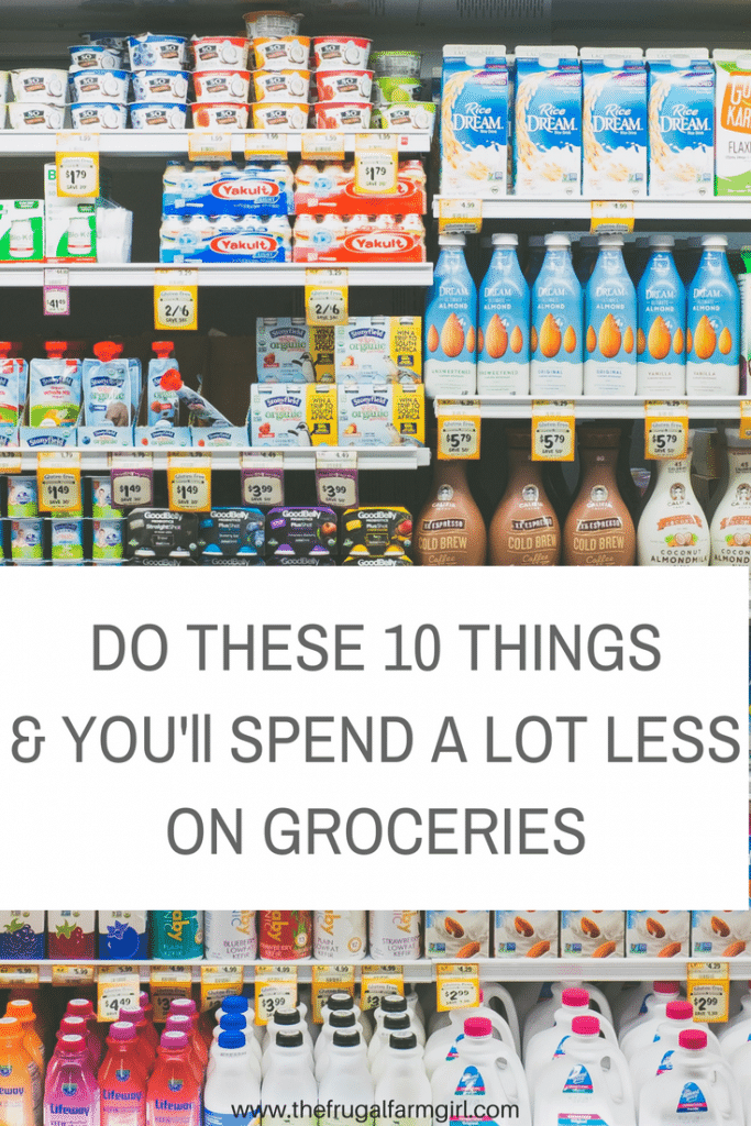 Groceries costing more than $100 a week? Here are ten things you need to try today to spend less on food.