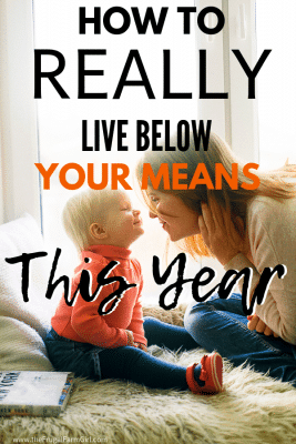 tips for living below your means this year