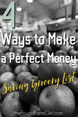 Perfect Money Saving Grocery List