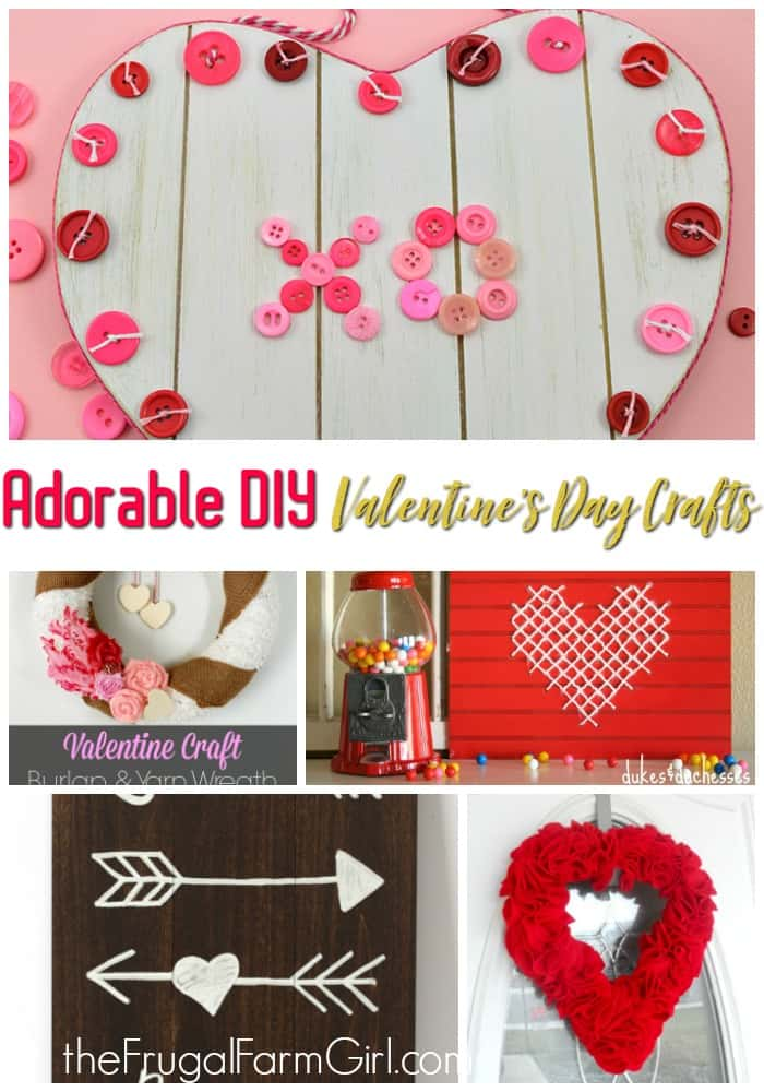 Don't break the budget by falling into the hype of Valentine's Day decor. Make your own from one of these 7 adorable and easy to do DIY Crafts.