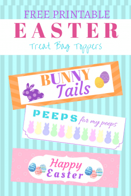 Easter Treat Bag Toppers Printables