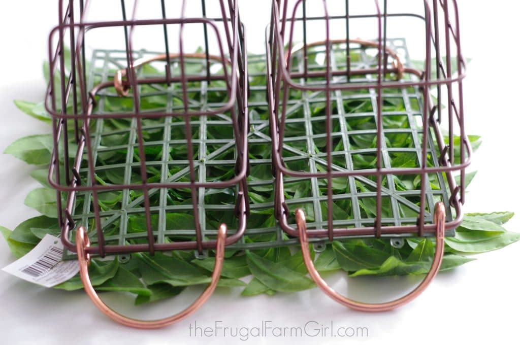 Farmhouse Style DIY Wire Hanging Plant Basket