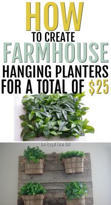 Looking to add some Farmhouse style to your home? Learn how to create these Farmhouse Style DIY Hanging Wire Baskets. #howto #diy #create #farmhouse #frugal