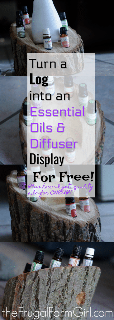 Make Your Own Essential Oil Display where your diffuser can sit. Get out the oils that are the best for each season on display so you don't have to funnel through a huge storage and try to remember which ones you need. Plus it's FREE!