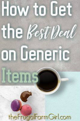 How to get the best deal on generic items
