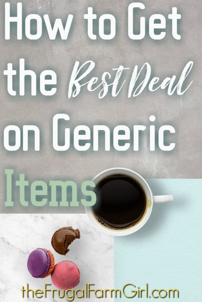 Wondering if generic is actually cheaper? Will name brand really kill your grocery budget? Find out how to get the best price on generic from frugal living queen.