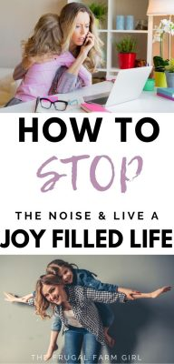how to stop the noise joyfilled life