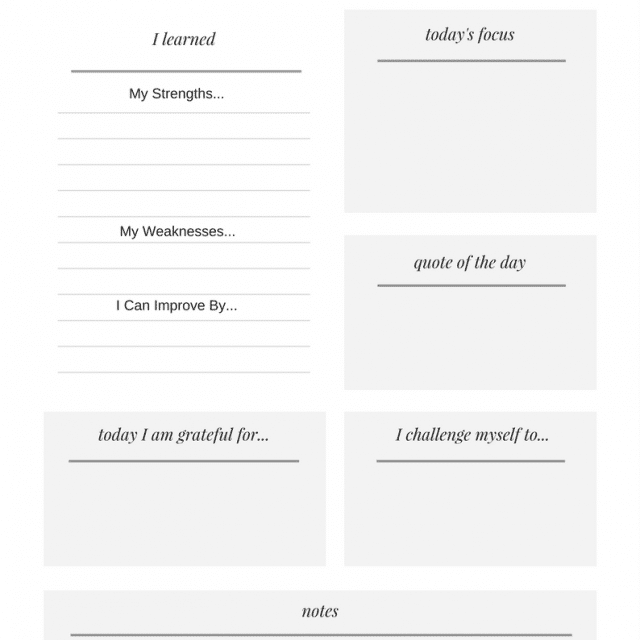 Free Personal Daily Devotional Printable