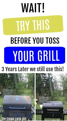 Before you toss your grill try this quick and easy DIY. Or if you see a grill on the side of the road like we did spray it and give it new life. #diy #grills #redo #paint #grilling #fathersday