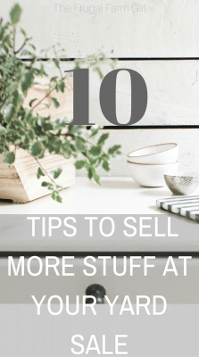 sell more at a yard sale make more money at home