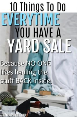 tips for selling stuff at your yard sale