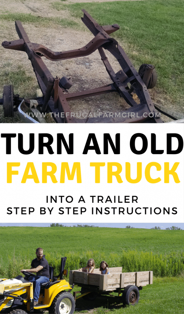 Need a trailer around the homestead? We found an old farm truck in the woods and turned it into a functioning trailer. Learn how you can too for free!