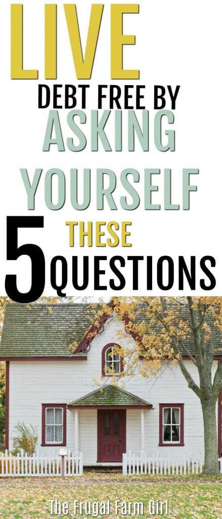 Looking for ways to say no to a deal, or a new item? It's not easy for many of us, but it can be done. Learn how to ask yourself five questions before you make a purchase.  #debtfree #inspiration #howto #tips #savemoney #frugal