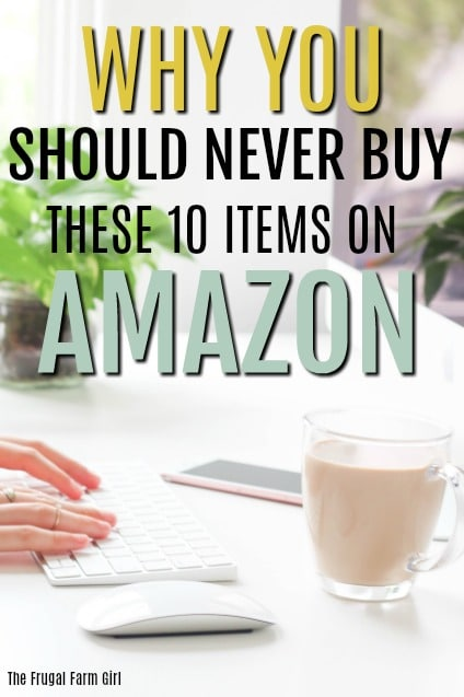 I love the convenience of items delivered to my door but my budget doesn't. Now that I know about these 10 items I won't be purchasing them from Amazon again. #budget #amazon #frugal #savemoney