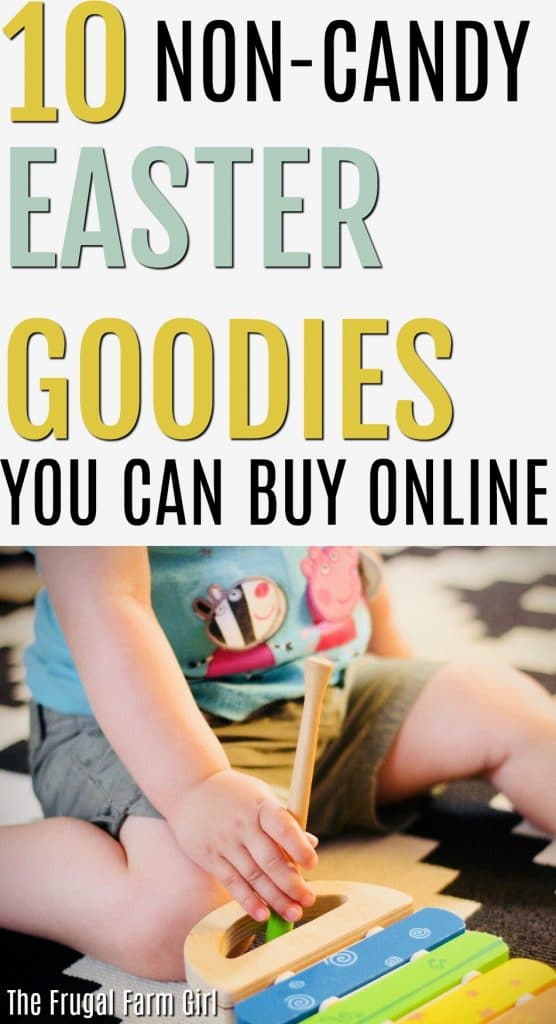 Looking for Easter items to place in a basket that aren't all candy? Here are 10 fun and easy ideas for you to use this year. The best part you can order them online and have delivered in two days.