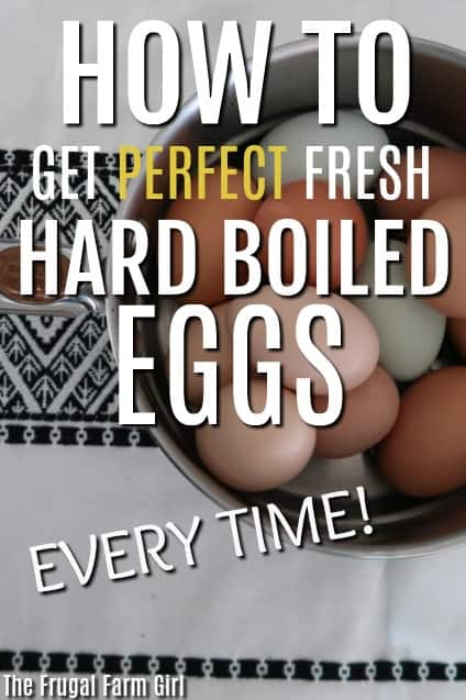Tips for getting fresh eggs to peel after boiling. The only way I can get fresh hard boiled eggs to peel perfectly every time. 