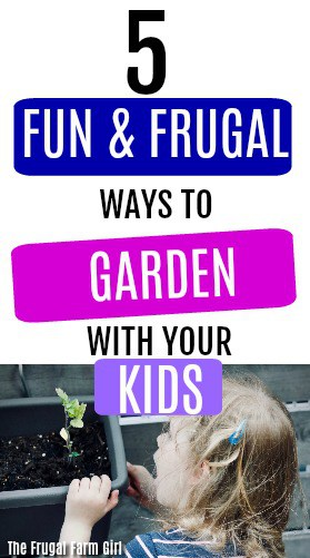 Looking for fun garden projects to do with your kids? If you want to get the children involved in gardening try these fun and frugal ways to get the whole family started. #gardenin #kids #howto #youngchildren #vegetables #easy #activties #DIY #indoor #plants