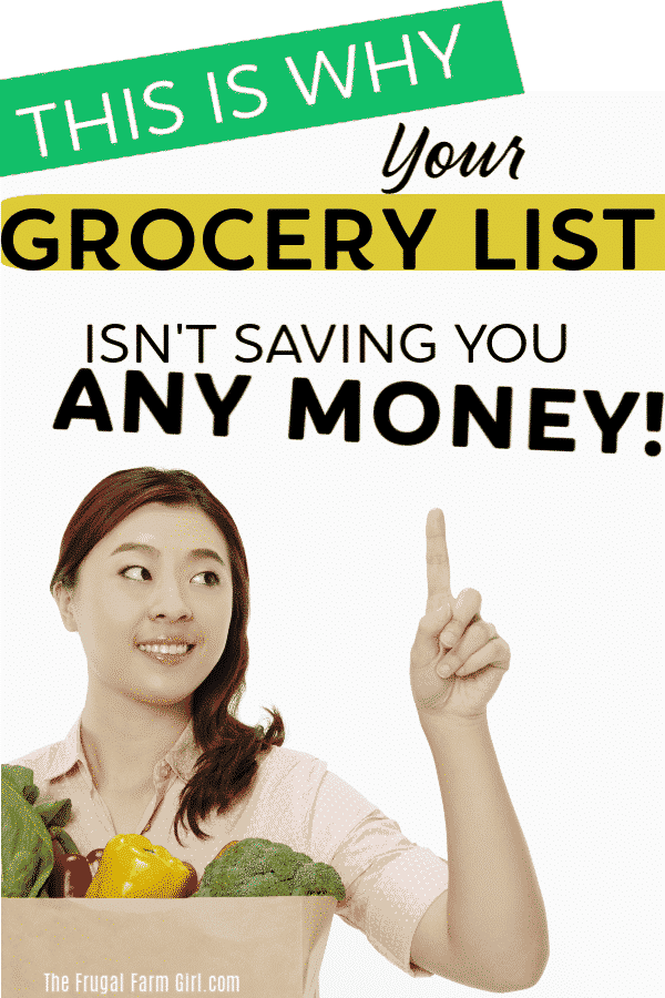 how to save money with a grocery list