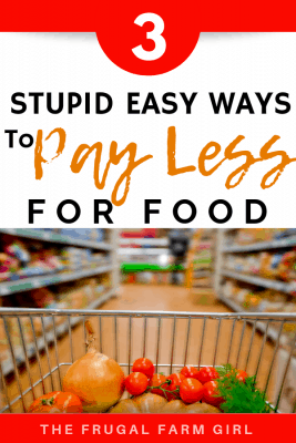 pay less money for groceries