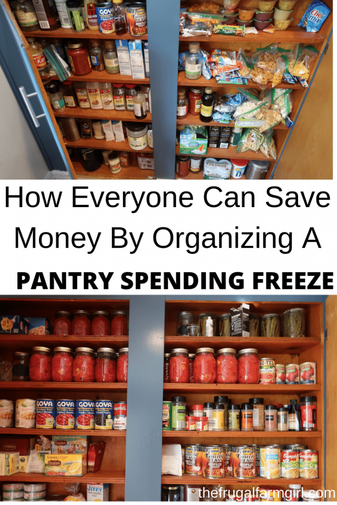 how to organize and follow through on a pantry spending freeze