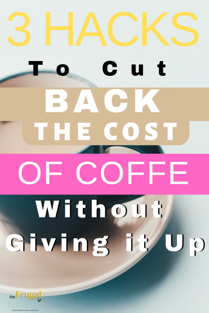 how to cut back on the expense of coffee