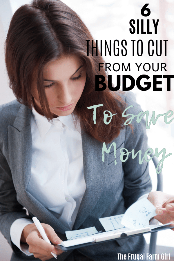 6 things cut from budget to save money