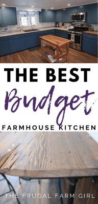 farmhouse kitchen makeover debt free