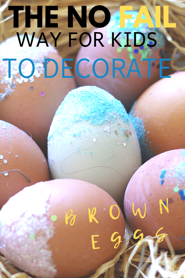 how kids can decorate brown eggs for easter