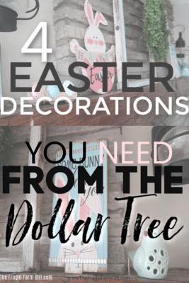 easter decor at dollar tree
