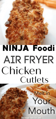 air fryer chicken cutlets recipe