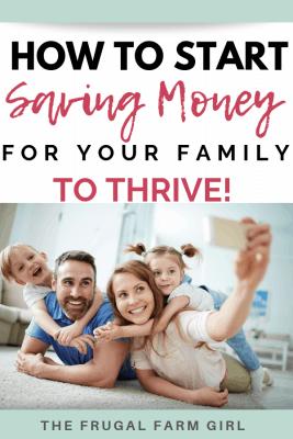 saving money frugal living start