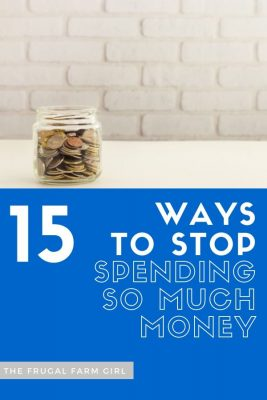 ways to stop spending so much money