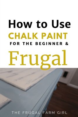 how to use chalk paint for cheap
