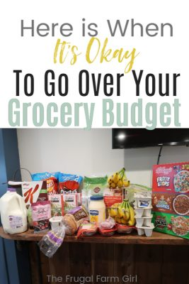 going over your grocery budget