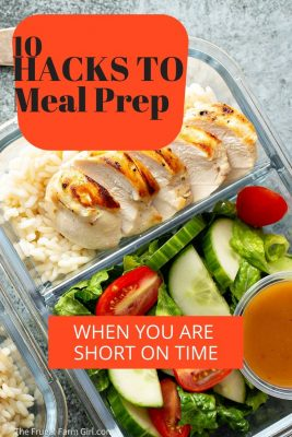 hacks to meal prep short on time