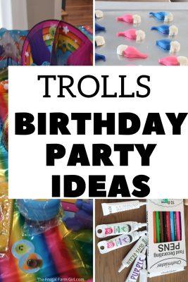 trolls birthday party ideas for girls