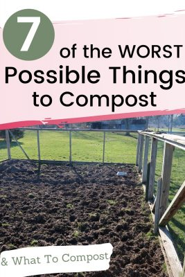 worst things to compost