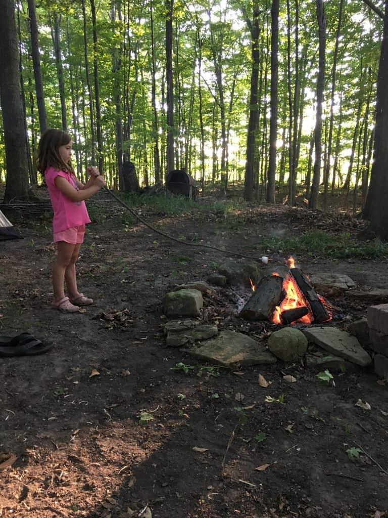 backyard vacation camping