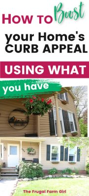 boost curb appeal using what you have