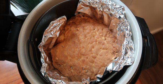 chocolate chip cookie skillet in ninja foodi