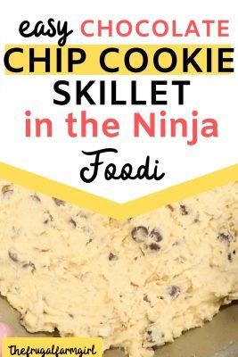 easy chocolate chip skillet cookie recipe ninja foodi